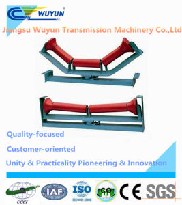 Friction Conveyor Belt Idler, Roller with Frame, Steel Belt Conveyor Roller pictures & photos