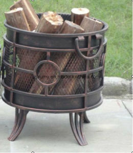 Round Copper Firewood Log Rack pictures & photos