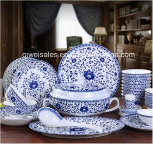Jingdezhen Porcelain Tableware Kettle Set (QW-Blue Lotos) pictures & photos