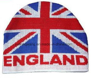 Chicago/England Knitted Jacquard Hat, Warm Beanie pictures & photos