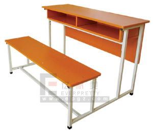 Comfortable School Double Desk Chair, New Design University School Furniture Wholesale pictures & photos