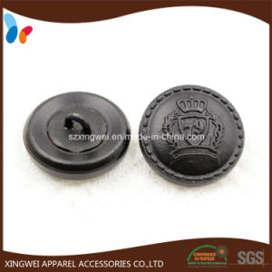 Custom Crown Pattern Leather Shank Button for Men′s Suits pictures & photos