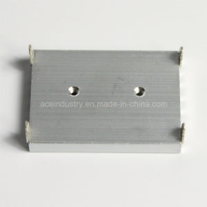 Square Aluminum Heat Sink with Anodic Oxidation CNC Machinedd pictures & photos