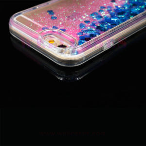 Wholesale Liquid Oil Glitter Quicksand Transparent Phone Case for iPhone5/6/6plus pictures & photos