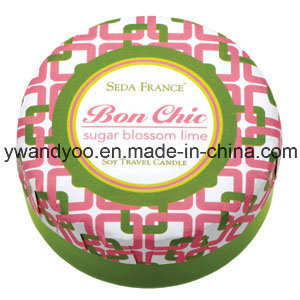Colorful Decortive Romantic Tin Wedding Candles with Lid pictures & photos