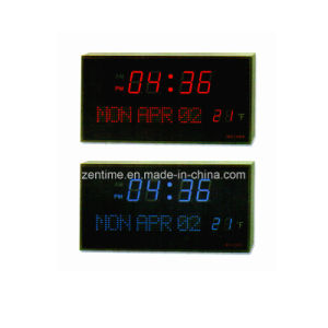 Electric LED Digital Time and Calendar Clock with Temperature Display pictures & photos
