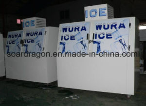 Cold Wall Slant Doors Ice Merchandiser with -12 Degrees pictures & photos