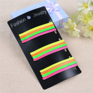 Lady Fashion 6cm Card Packed Colorful Painted Metal Hairpins (JE1035) pictures & photos