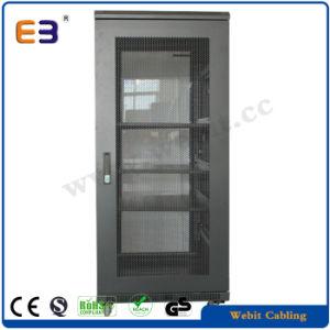 """Popular 19"""" Glass Door Floor Network Cabinet pictures & photos"""