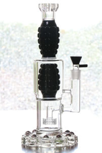 Thickened Glass Water Pipe Black White Oil Rigs Smoking Pipes pictures & photos
