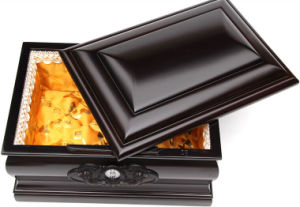 Customed Wooden Painting Funeral Coffin Casket pictures & photos