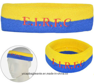Custom Made Soft Zipper Sweatband Sports Wristband pictures & photos