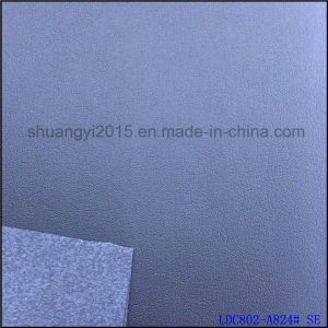 1.4mm Plain Grain R61 Microfiber Leather for Shoes Bags pictures & photos