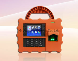 Portable Biometric Fingerprint RFID Time Attendance Clock with GPRS (TFT500P) pictures & photos