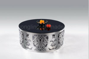 Fashion Coffee Table with Stainless Steel Carved Furniture pictures & photos
