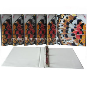 Customized PVC 3 D Ring Binder with Pockets pictures & photos