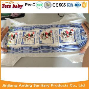 Two Colours PE Film Disposable Baby Diapers for OEM All Sizes pictures & photos