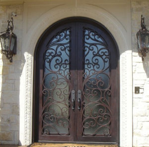 Made in China Round Top Iron Door (UID-D065) pictures & photos