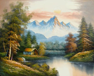 Andscapes Painted Oil Forest Scenery Oil Painting Interior Decoration (LH-353000) pictures & photos