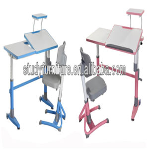 Hot Sale Metal Height Adjustable Desk Kids Furniture pictures & photos