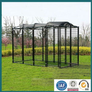 New Products 2016 Black Powder Coated Welded High Quality Dog Kennel, Wire Mesh Fencing Dog Kennel (from a real factory) pictures & photos