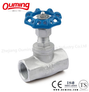 Stainless Steel Straight-Through Threaded Globe Valve (200WOG) pictures & photos