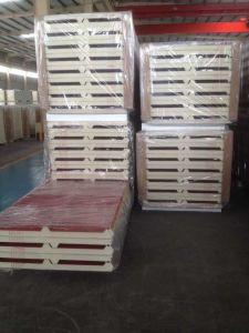 Steel Structural Insulated PU Polyurethane Sandwich Panel pictures & photos