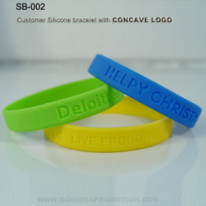 Promotional Bracelet with Concave Logo pictures & photos