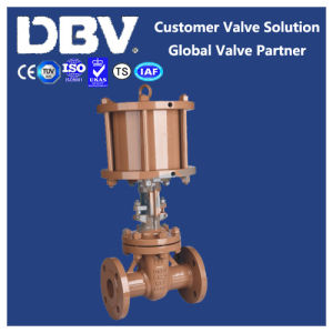 Pneumatic Operated Casting Flanged Gate Valve pictures & photos