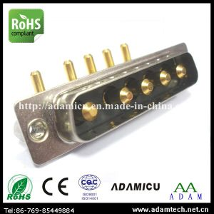Right Angle Male 5W5 D-SUB Power Connector