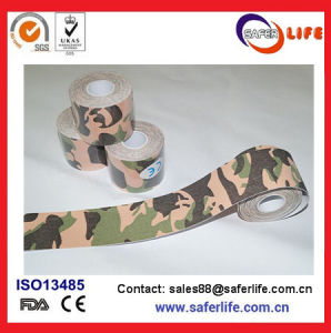 High Adhesive Camouflage Kinesio Bandage Tape Waterproof Elastic Kinesiology Tape Sport Bandage pictures & photos