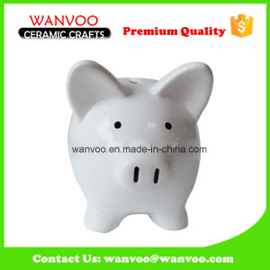 Wholesale Ornament White Ceramic Piggy Bank for Kids pictures & photos