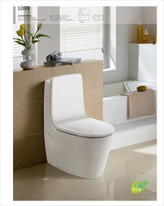 Siphonic One-Piece Wc Closet Toilet (CE-T144) pictures & photos