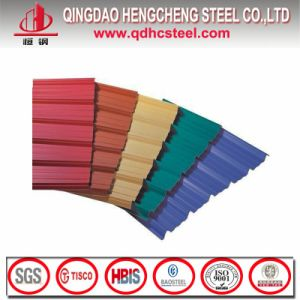 0.45mm Thick Color Coated Galvalume Corrugated Sheet pictures & photos