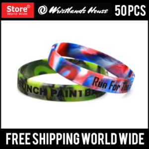 1/2 Inch Custom Silicone Bracelet pictures & photos