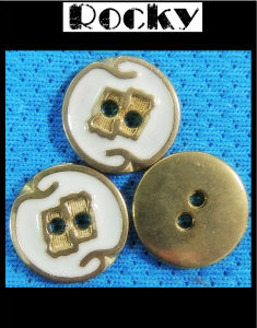 White Oil Printing Button Brass Buckle pictures & photos