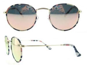 2016 China New Italian Design High Fashion Mirror Metal Woman Girls Round Sunglasses pictures & photos