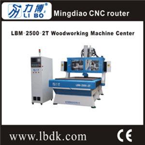 2016 Vacuum Adsorption Woodwrking CNC Router Lbm-2500-2t