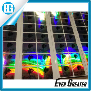 Custom Design Products Decorative Oval Adhesive Holographic Sticker pictures & photos