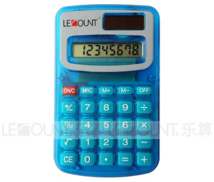 8 Digits Dual Power Pocket Calculator with Opaque & Transparent Colors (LC321) pictures & photos