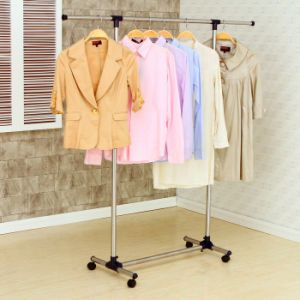 Stainless Steel Single Rod Telescopic Clothes Hanger pictures & photos