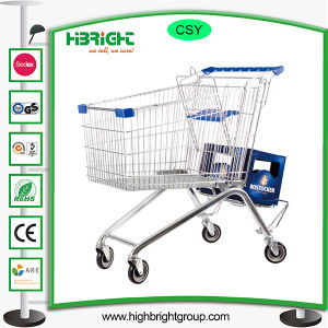 Supermarket Multi-Type Wire Shopping Trolley Cart with Beer Cart pictures & photos