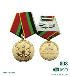 BSCI Factory Custom Metal National Army Logo Award Medal (MD-08) pictures & photos