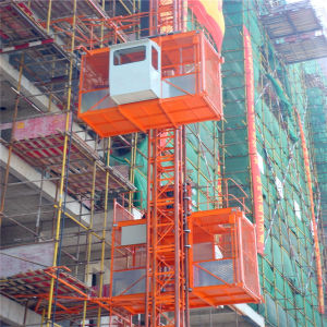 Sc200/200 Double Cage Construction Passenger Hoist Construction Machinery pictures & photos