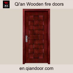 Black Walnut Entry Door Interior Wooden Fire Door pictures & photos