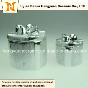 Electroplate Ceramic Trinket Box for Christmas Decoration, (Home Decoration) pictures & photos