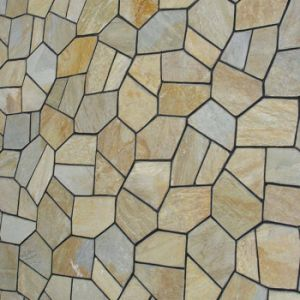 Meshed Beige/Rust Random Flagstone Tile Slate Paving pictures & photos