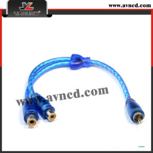 High Quality Nickel-Plated Y-RCA Cable (Y-026)
