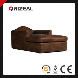 Orizeal Antique Belgian Camelback Genuine Leather Single Lounge Chair (OZ-LS-2005) pictures & photos