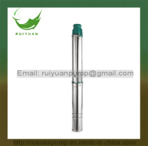 "High Qaulity 3.5"" 0.5HP Cast Iron Copper Wire Electrical Borehole Deep Well Submersible Water Pump for Pakinstan (90QJD2-06/370W) pictures & photos"